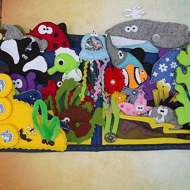 Куклы и игрушки. Ярмарка Мастеров - ручная работа Игры: магнитная рыбалка. Handmade.