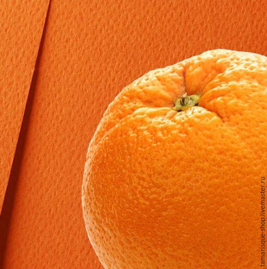 Открытки и скрапбукинг ручной работы. Ярмарка Мастеров - ручная работа. Купить Бумага дизайнерская «Фетр оранж» 250 гр. Handmade.