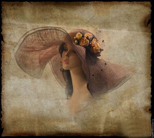 """Шляпы ручной работы. Ярмарка Мастеров - ручная работа. Купить Шляпа летняя """"Шоколадный мусс"""". Handmade. Коричневый, шляпа летняя"""