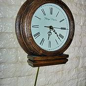 """Часы классические ручной работы. Ярмарка Мастеров - ручная работа Часы  """"Philippo Vincitore""""  с маятником (на стену). Handmade."""