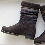 """Обувь ручной работы. Ярмарка Мастеров - ручная работа Сапожки укороченные """"Сумерки 2"""". Handmade."""