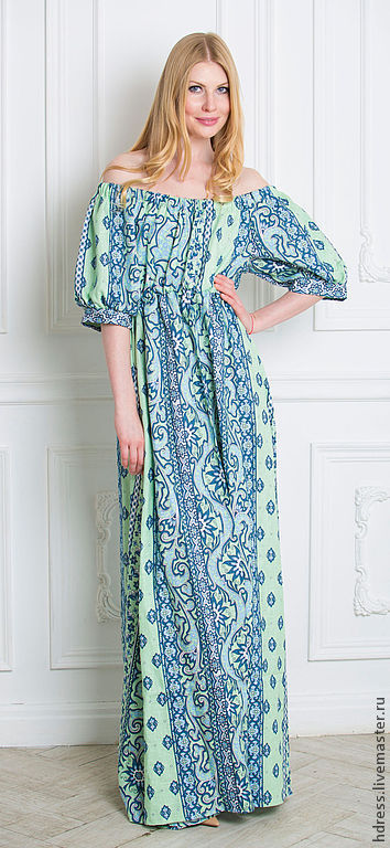 Купить длинное легкое платье