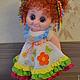 """Человечки ручной работы. Ярмарка Мастеров - ручная работа. Купить Кукла вязаная """"Дарьюшка"""". Handmade. Разноцветный, подарок девушке, синтепух"""