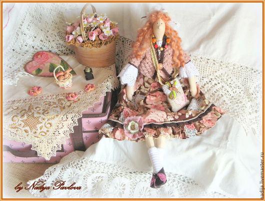 Куклы Тильды ручной работы. Ярмарка Мастеров - ручная работа. Купить Кофейная фея в стиле тильда. Handmade. Коричневый, кофеману