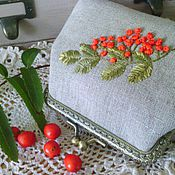 Сумки и аксессуары handmade. Livemaster - original item Linen cosmetic bag with Clasp. Handmade.