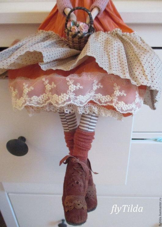 """Куклы Тильды ручной работы. Ярмарка Мастеров - ручная работа. Купить Интерьерная кукла Тильда """" Кейлин"""". Handmade. Коралловый"""
