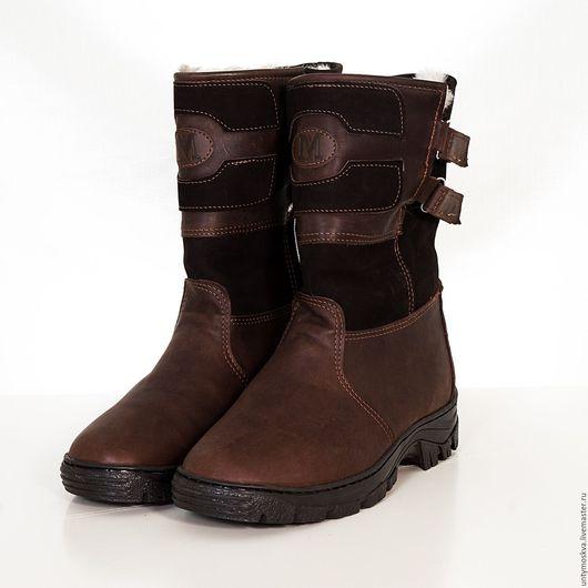 Обувь ручной работы. Ярмарка Мастеров - ручная работа. Купить Монголки мужские (короткие,ТЭП подошва) мм2. Handmade. Коричневый