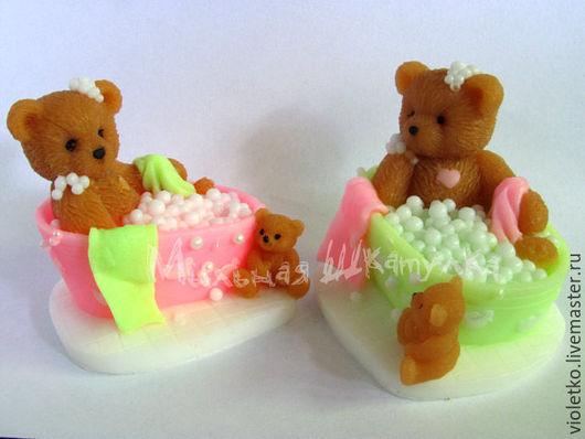 Мыло ручной работы. Ярмарка Мастеров - ручная работа. Купить Мыло Мишка в Ванной. Handmade. Коричневый, мыло сувенирное