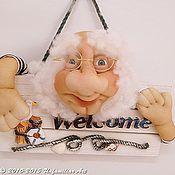 """Для дома и интерьера ручной работы. Ярмарка Мастеров - ручная работа Табличка на дверь """"Добро пожаловать"""" WELCOME моряк. Таблички. Handmade."""