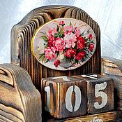 """Канцелярские товары ручной работы. Ярмарка Мастеров - ручная работа Вечный календарь """"Пионовая нежность"""". Handmade."""