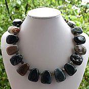Украшения handmade. Livemaster - original item Large necklace made of natural green moss agate. Handmade.