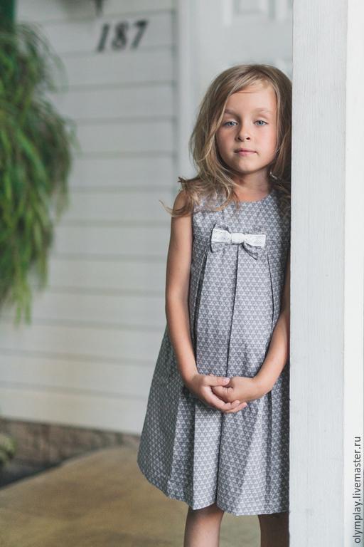 Одежда для девочек, ручной работы. Ярмарка Мастеров - ручная работа. Купить Детский сарафан (200368) - ручная работа. Handmade. Серый