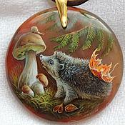 Украшения handmade. Livemaster - original item A Curious Hedgehog!!!!. Handmade.