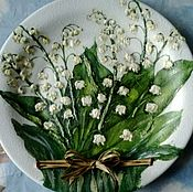 """Посуда handmade. Livemaster - original item Декоративная тарелка """"Ландыши"""". Handmade."""