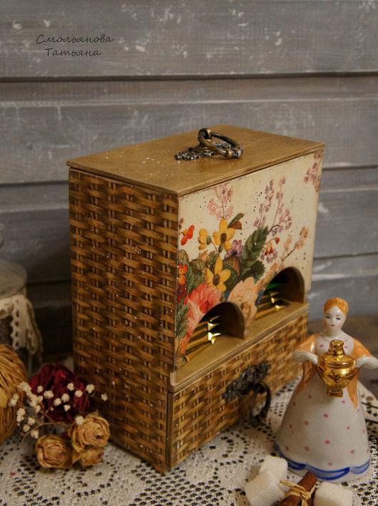 Кухня ручной работы. Ярмарка Мастеров - ручная работа. Купить Буфет для чайных пакетиков Садовые розы. Handmade. Бежевый, чаепитие