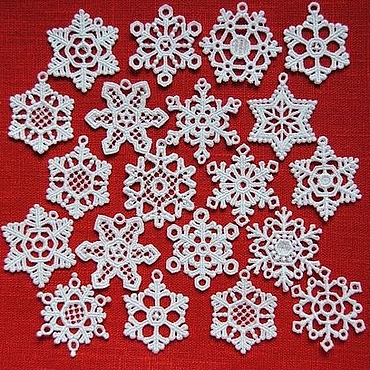 Souvenirs and gifts handmade. Livemaster - original item Line snowflakes lace