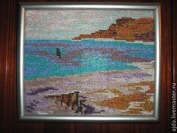 Морской пейзаж бисером вышивка