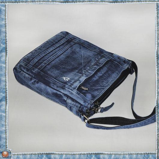 Женские сумки ручной работы. Ярмарка Мастеров - ручная работа. Купить Сумка из джинсовой ткани. Handmade. Синий, авторская сумка