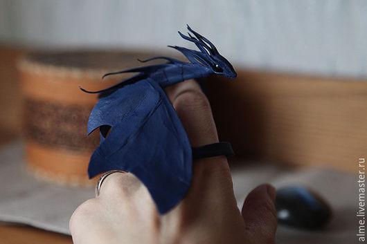 Сказочные персонажи ручной работы. Ярмарка Мастеров - ручная работа. Купить Сапфировый дракон. Handmade. Тёмно-синий, магия
