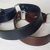 Для домашних животных, handmade. Livemaster - original item Polouzivka collar, personalized dog collar, leather collar. Handmade.