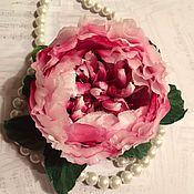 """Цветы и флористика ручной работы. Ярмарка Мастеров - ручная работа """"Garnet frost""""-роза из японских тканей.. Handmade."""