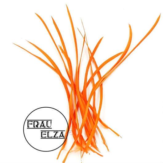 Другие виды рукоделия ручной работы. Ярмарка Мастеров - ручная работа. Купить Длинные перья биот в упаковке. Оранж. Handmade.