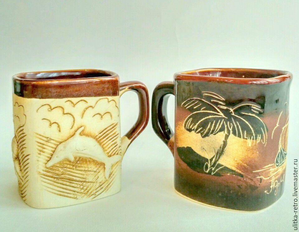 Clay mugs, Vintage mugs, Moscow,  Фото №1