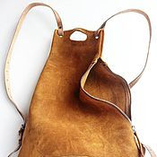 Сумки и аксессуары handmade. Livemaster - original item A small suede hand-made backpack. Handmade.