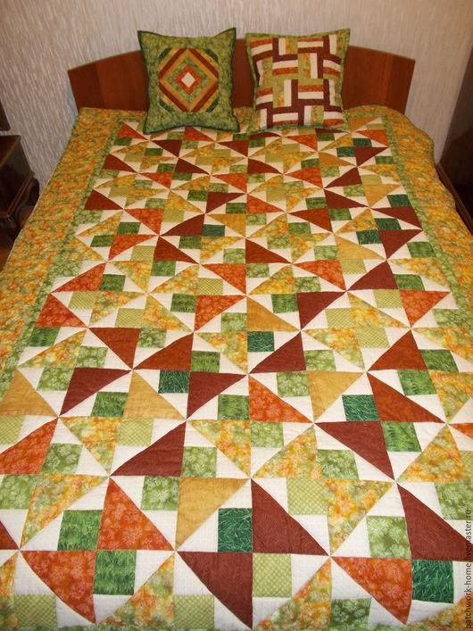 Текстиль, ковры ручной работы. Ярмарка Мастеров - ручная работа. Купить Краски осени. Handmade. Лоскутное одеяло, покрывало пэчворк