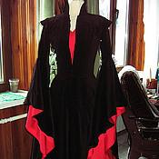 Субкультуры ручной работы. Ярмарка Мастеров - ручная работа Черное-красное эльфийское платье. Handmade.