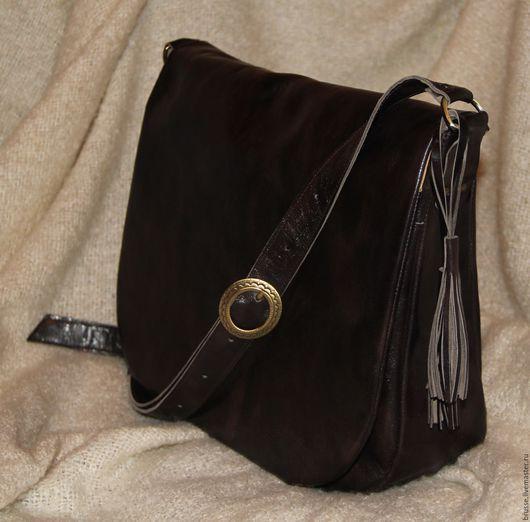 Женские сумки ручной работы. Ярмарка Мастеров - ручная работа. Купить Сумка Redbag. Handmade. Однотонный, сумка из натуральной кожи