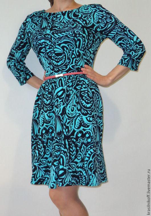 """Платья ручной работы. Ярмарка Мастеров - ручная работа. Купить Платье """"Бирюза"""". Handmade. Тёмно-бирюзовый, платье, осенняя мода"""