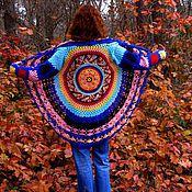Одежда ручной работы. Ярмарка Мастеров - ручная работа кардиган вязанный крючком Солнце в горах. Handmade.