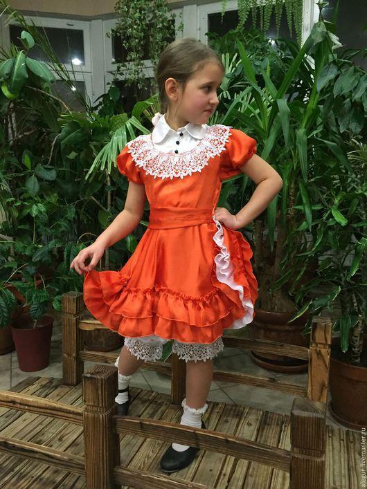 """Одежда для девочек, ручной работы. Ярмарка Мастеров - ручная работа. Купить Платье для девочки """"Кантри"""". Handmade. Детское платье, кружево"""