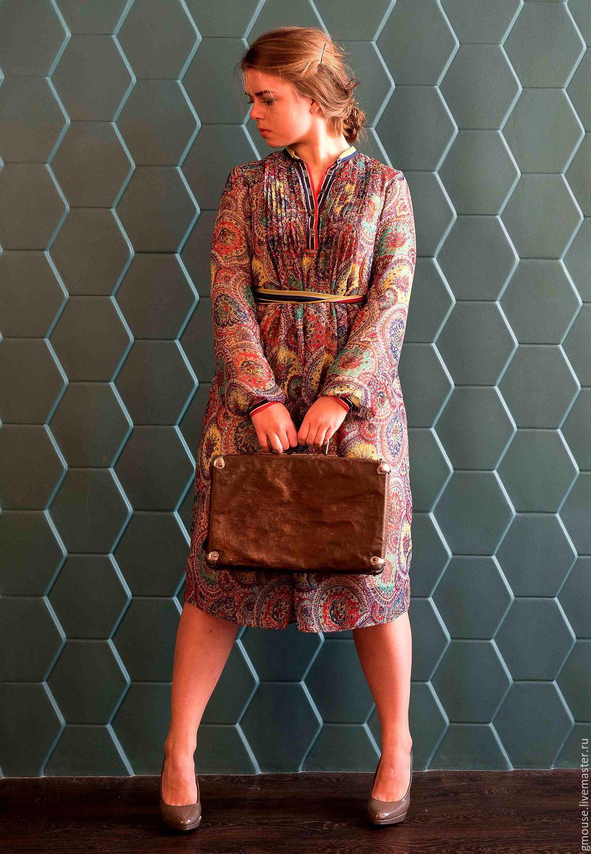 Комбинированные платья трикотаж и шифона