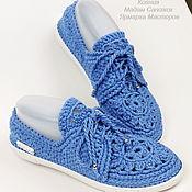 Обувь ручной работы handmade. Livemaster - original item Moccasins womens with laces of flax. Handmade.