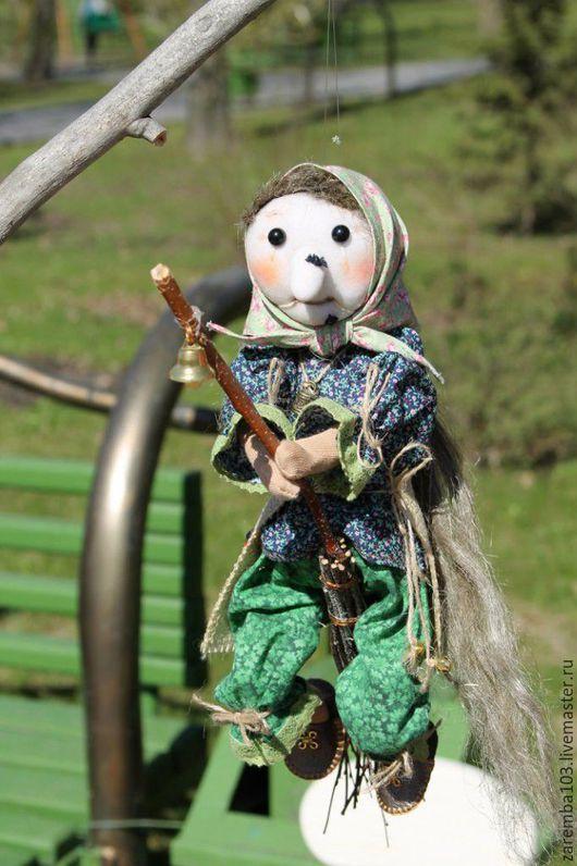 Сказочные персонажи ручной работы. Ярмарка Мастеров - ручная работа. Купить Текстильная кукла-Ведьмочка. Handmade. Болотный, оливковый цвет
