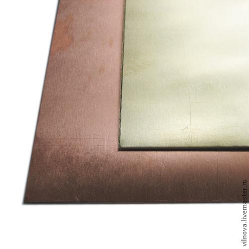 Для украшений ручной работы. Ярмарка Мастеров - ручная работа. Купить Листовая медь и латунь 0,2мм; 0,5мм; 0,8мм. Handmade.
