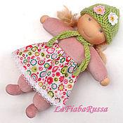 Куклы и игрушки ручной работы. Ярмарка Мастеров - ручная работа Дашенька вальдорфская кукла в пришивном комбинезоне. Handmade.