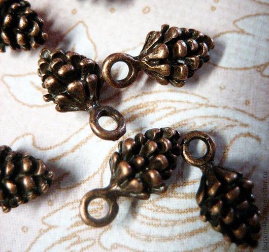 Для украшений ручной работы. Ярмарка Мастеров - ручная работа. Купить Подвеска Шишка 3D, античная медь (1шт). Handmade.