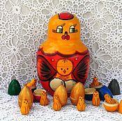 Русский стиль ручной работы. Ярмарка Мастеров - ручная работа Курица с цыплятами. Handmade.