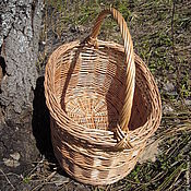 Для дома и интерьера ручной работы. Ярмарка Мастеров - ручная работа В лес- по грибы. корзина овальная  из ивовых прутьев. Handmade.