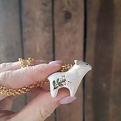 Украшения handmade. Livemaster - original item Ceramic Animal pendant. Handmade.