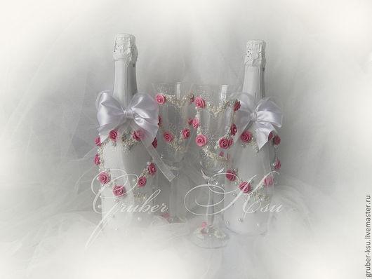 """Свадебные аксессуары ручной работы. Ярмарка Мастеров - ручная работа. Купить Свадебные аксессуары ручной работы """"Сердце"""". Handmade. Розовый"""