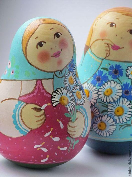 """Матрешки ручной работы. Ярмарка Мастеров - ручная работа. Купить Неваляшка """"Первая любовь"""".. Handmade. Купить подарок девушке, цветы"""