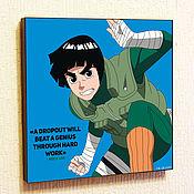 Картины и панно handmade. Livemaster - original item Picture Poster Rock Lee Anime