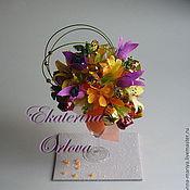 Цветы и флористика ручной работы. Ярмарка Мастеров - ручная работа Коктейль (букет из конфет). Handmade.