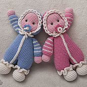 Кукла вязаная Близнецы (2 куклы) Усыновлены.