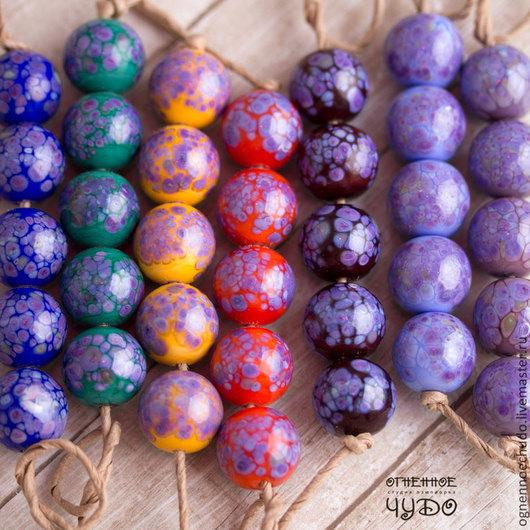 Для украшений ручной работы. Ярмарка Мастеров - ручная работа. Купить бусины лэмпворк «Purple». Handmade. Лэмпворк, lampwork, фиолетовый