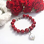 Украшения handmade. Livemaster - original item Passion bracelet made of Baroque pearls and mother-of-pearl. Handmade.